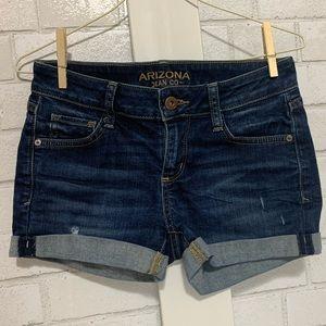 Arizona Cuffed Denim Jean Shorts